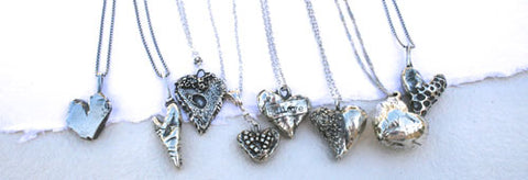 About the Jewelry - Hearts in a Row