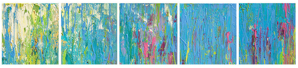 Original Abstract Acrylic Paintings by Renee Harp