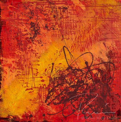 """Inferno"" - Painting by Renee Harp"