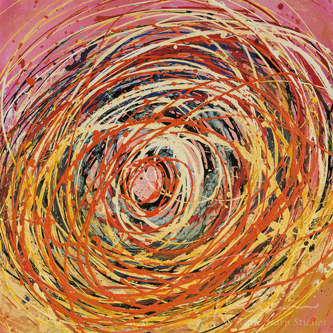 """Cotton Candy Vortex"" - Painting by Renee Harp"