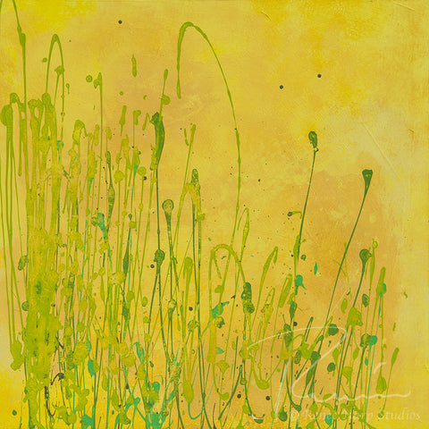 """Fiddleheads"" - Painting by Renee Harp"