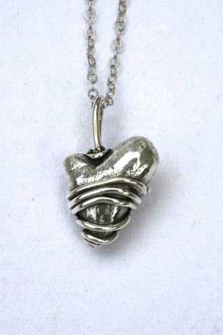 Silver hearts jewelry - I hold your heart