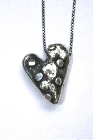 Silver hearts jewelry - Fill your life up with moments