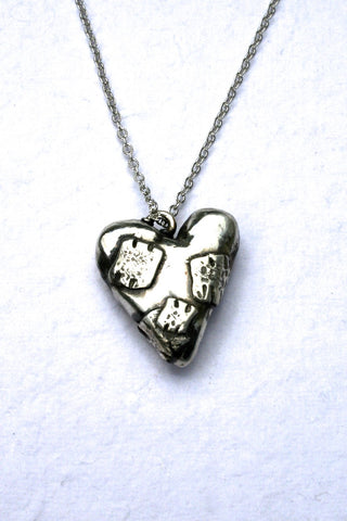 Silver hearts jewelry - Badges of Courage