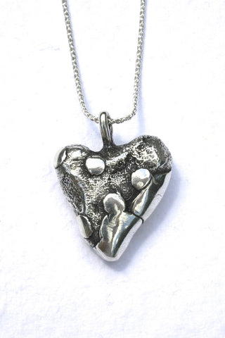 Silver hearts jewelry - Stronger