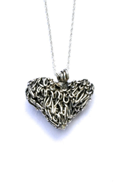 Silver hearts jewelry - Complicated