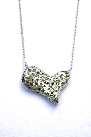 Silver hearts jewelry - Not So Fragile