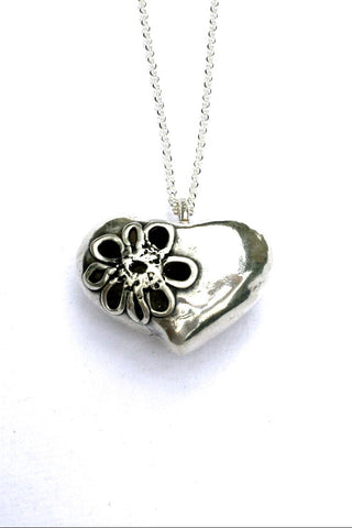 Silver hearts jewelry - Tough and Tender