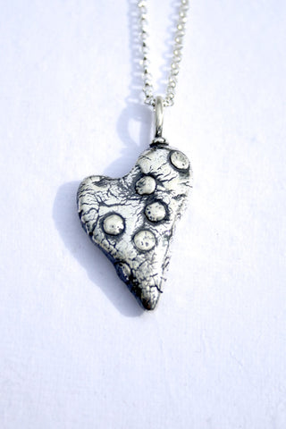 Silver hearts jewelry - Crazy