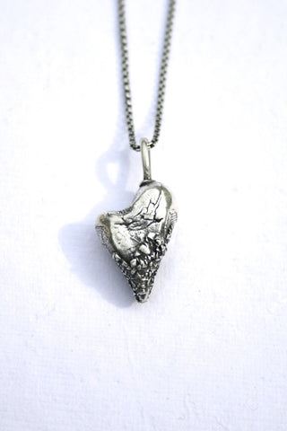 Silver hearts jewelry - Fused