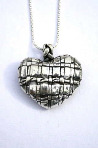 Silver hearts jewelry - Interwoven