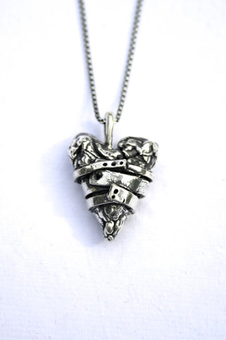 Silver hearts jewelry - Embrace