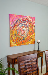 """Cotton Candy Vortex"" - Painting by Renee Harp (Alternate view)"