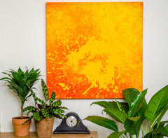 """Hot Lava"" - Painting by Renee Harp (Alternate view)"