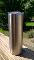 PRE-ORDER 20/30 Ounce NO TAPER Skinny Tumbler - Split Case