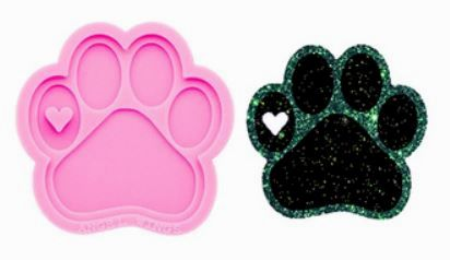 Paw Print Silicone Keychain Mold