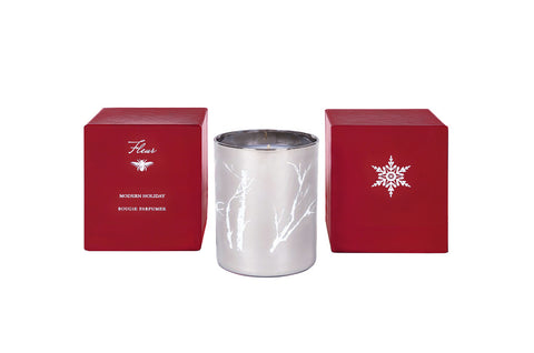 Silver 1-Wick Modern Holiday Candle