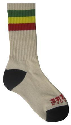 Rasta Stripe Crew Socks