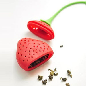 Strawberry Tea Silicone Strainer