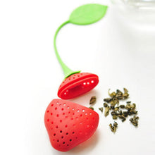 Load image into Gallery viewer, Strawberry Tea Silicone Strainer