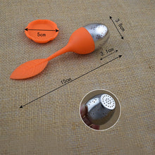 Load image into Gallery viewer, Silicone Stainless Steel Leaf Tea Strainer
