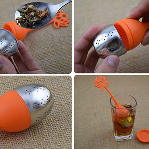 Silicone Stainless Steel Leaf Tea Strainer