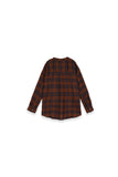 The Teratai Women Boxy Blouse - Checked Brown