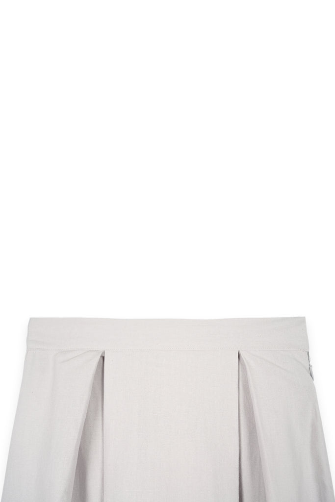The Bangun Women A-Line Skirt - Light Grey