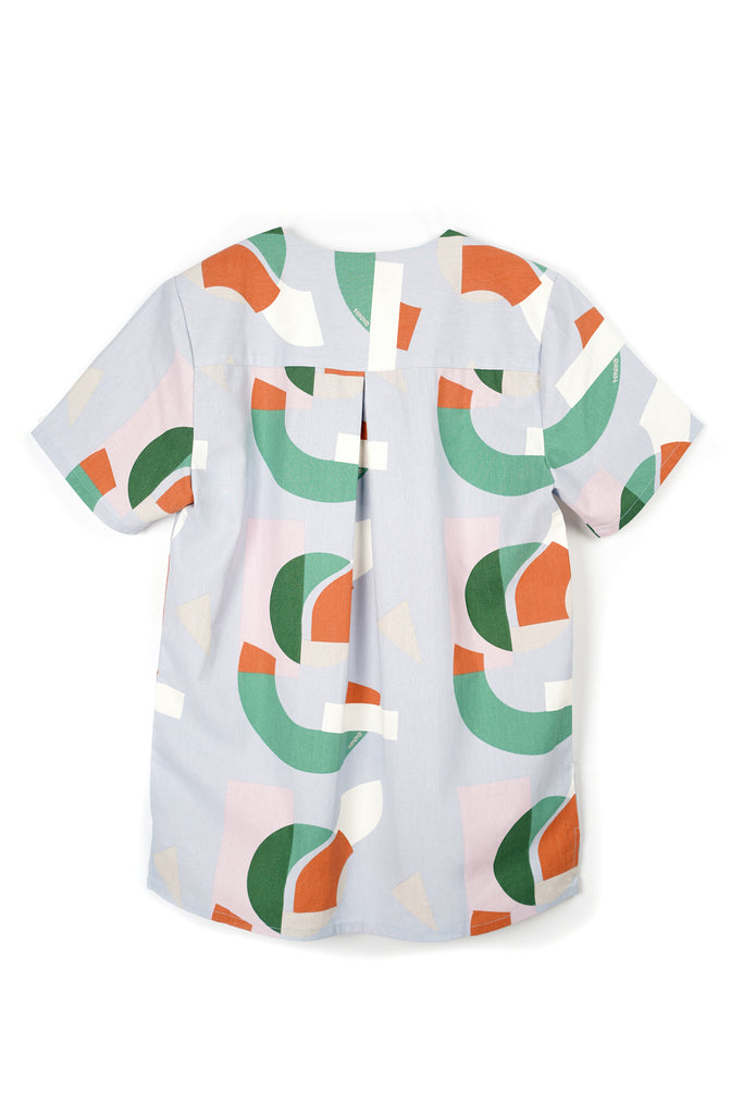 The Bangun Men Short Sleeves Shirt - Lumi Print