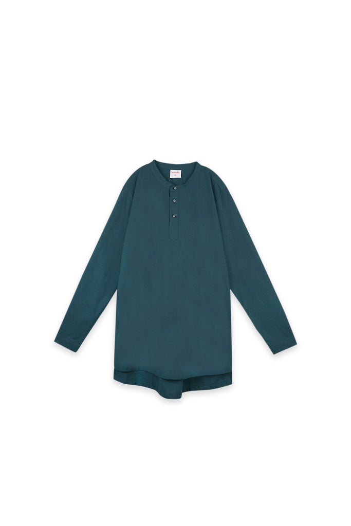 The Oasis Men Baju Melayu Shirt - Emerald Green