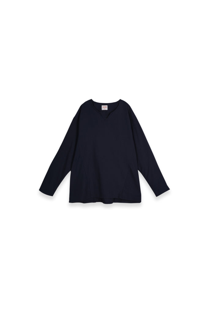 The Teratai Women Kite Blouse - Navy Blue