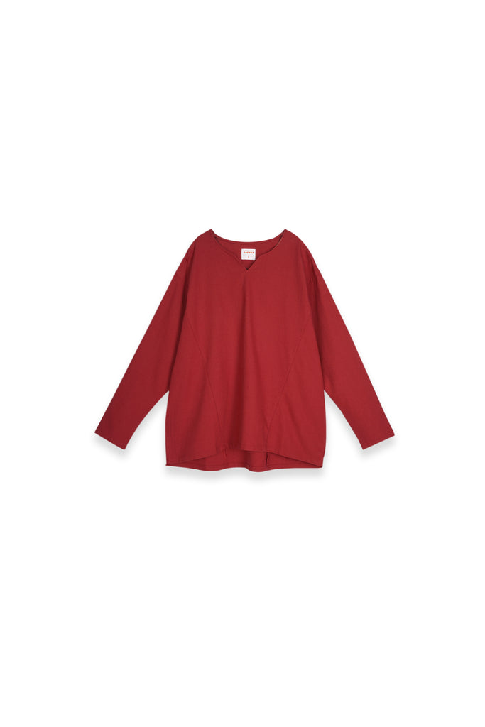 The Teratai Women Kite Blouse - Ruby Red