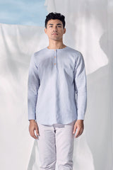 The Langit Men Kurta - Light Pigeon Blue