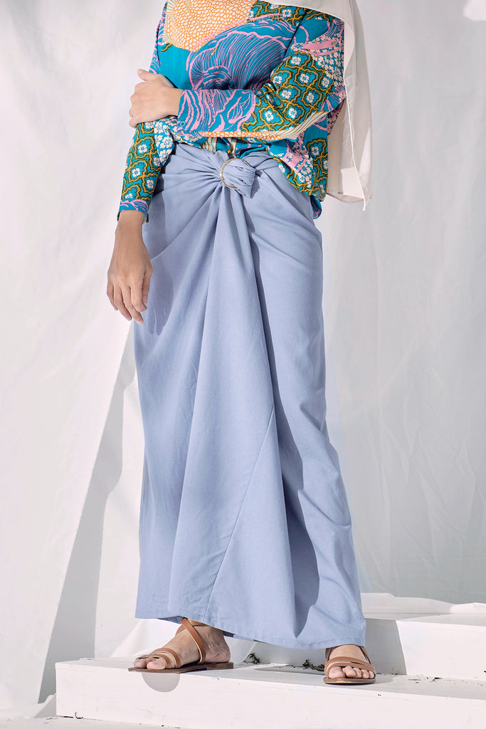The Langit Women Pareo - Light Pigeon Blue