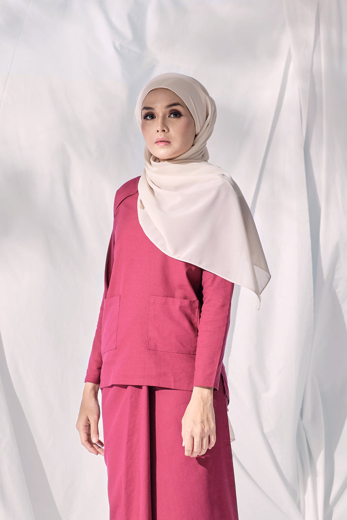 The Langit Women Raglan Sleeve Blouse - Maroon