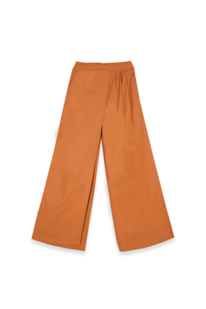 The Teratai Women Overlay Trousers - Almond Brown