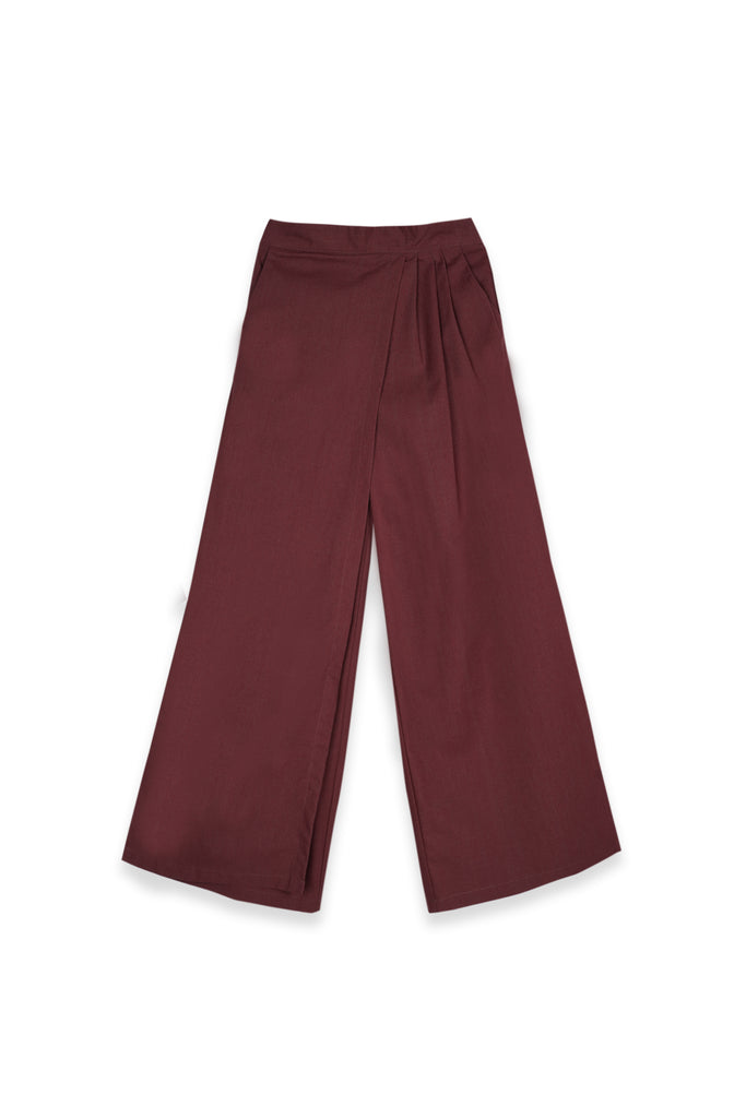 The Teratai Women Overlay Trousers - Mangosteen