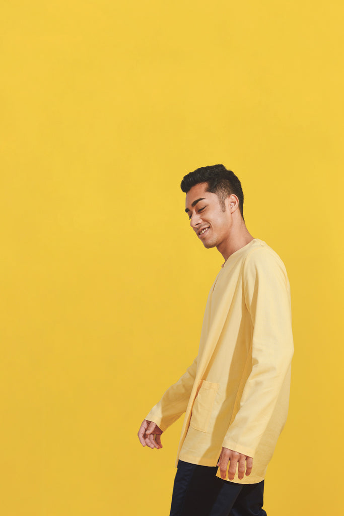 The Kurnia Men Kurta - Caramel