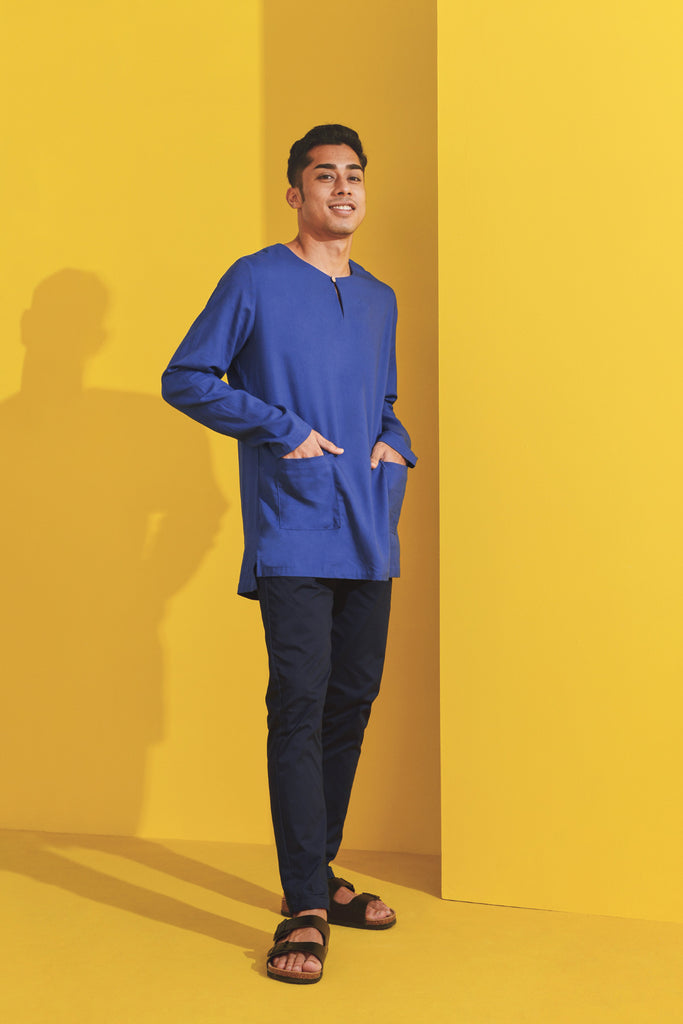 The Kurnia Men Kurta - Classic Blue