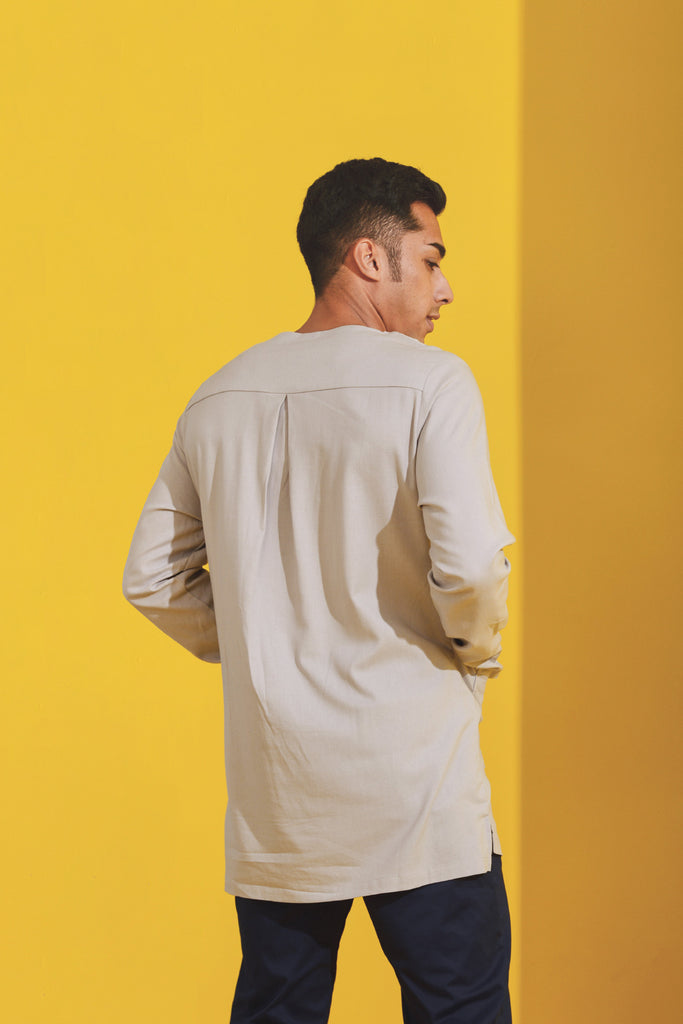 The Kurnia Men Kurta - Light Grey