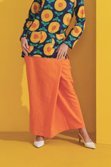 The Kurnia Women Folded Skirt - Orange