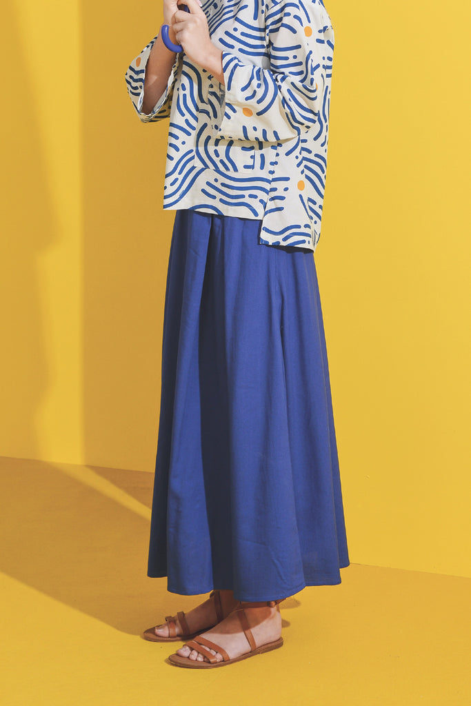 The Kurnia Women A-Line Skirt - Classic Blue