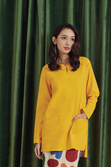 The Rona Women Kurti - Mustard