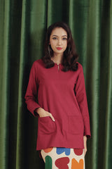 The Rona Women Kurti - Maroon