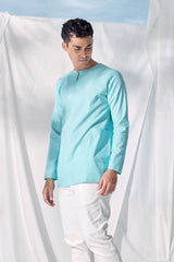 The Langit Men Baju Melayu Shirt With Pair Pockets - Tiffany