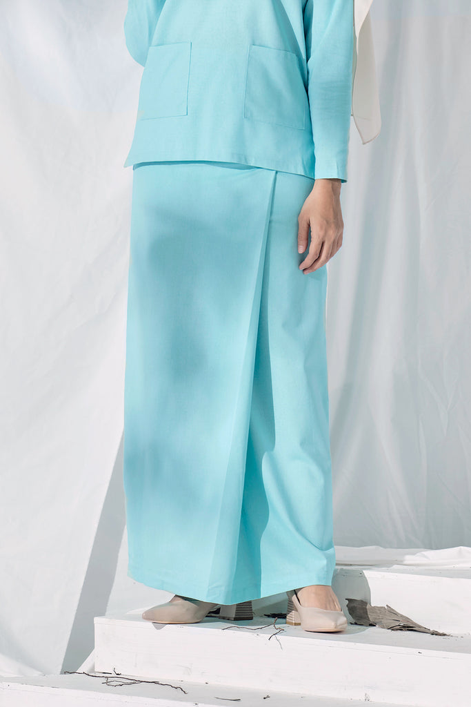 The Langit Women Folded Skirt - Tiffany