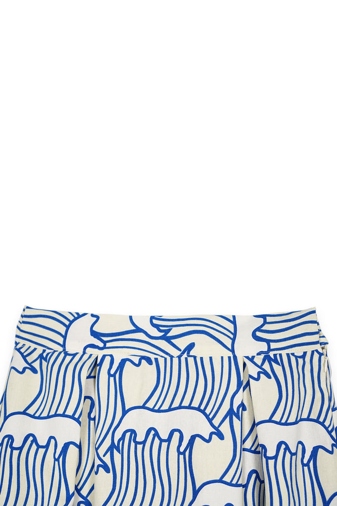 The Bangun Women A-Line Skirt - Nami Print