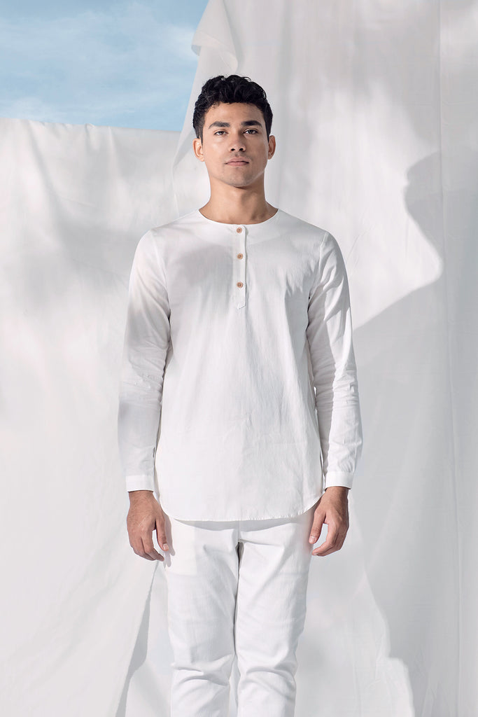The Langit Men Kurta - White
