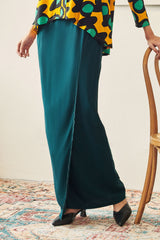 Rasa Sayang Women Scallop Skirt - Emerald Green