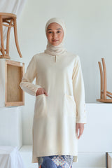 The Sungai Women Pockets Kurung Blouse - Cream